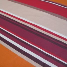 Tissu enduit coton Sebastian rouge x 10cm