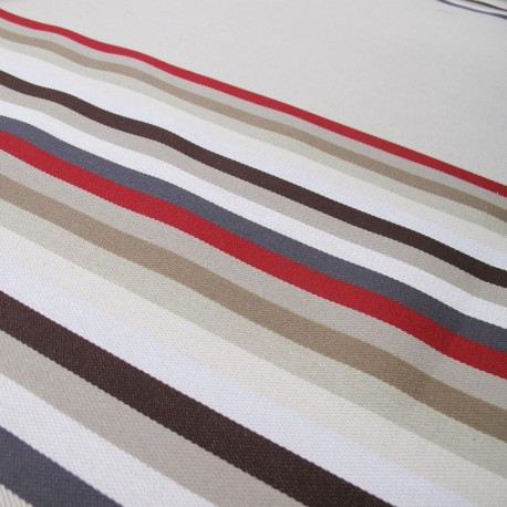 Canvas Fabric - Feria Rayures basque Molène x 10cm