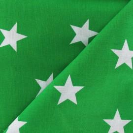 Tissu Grandes étoiles vert prairie x 10cm
