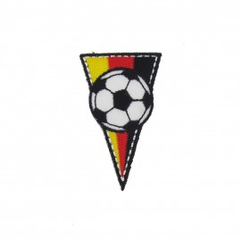 Germany soccer Club Flag, triangle-shaped iron-on applique - multicolored