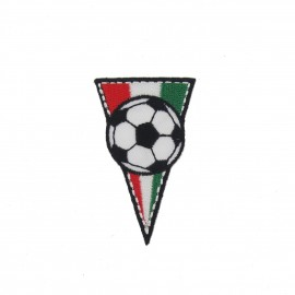 Italy soccer Club Flag, triangle-shaped iron-on applique - multicolored