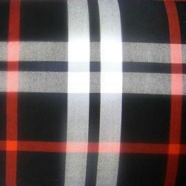 Scottish tartan Fabric - Black / Red / White x10 cm
