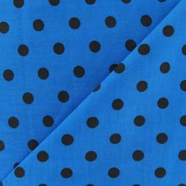 ♥ Coupon 190 cm X 145 cm ♥ Tissu Pois multi marron fond turquoise