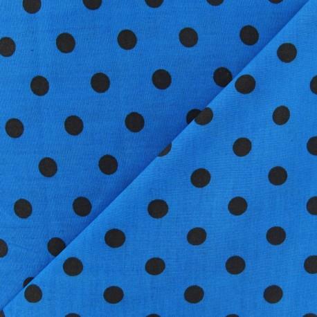 Fabric Pois multi marron fond turquoise x 10cm