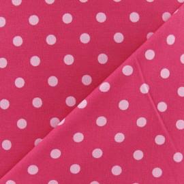 Tissu Pois multi rose fond fuchsia x 10cm