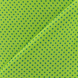Fabric little turquoise dots - lime x 10cm
