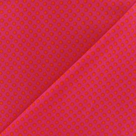 Fabric little orange dots - fuchsia x 10cm