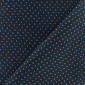 Tissu petit pois multi turquoise fond marron x 10cm
