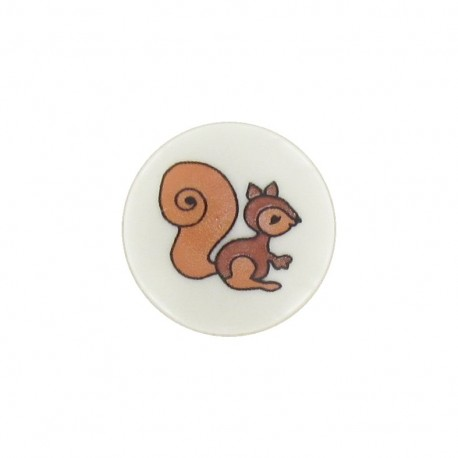 Button squirrel - white