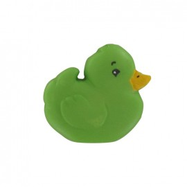 Polyester chick button - green