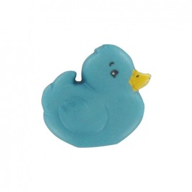 Polyester chick button - turquoise