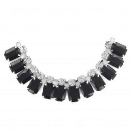 Bijoux de col pierre strass noir