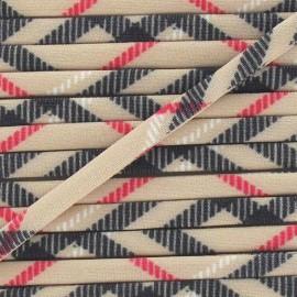 Cordon Maillot de Bain Écossais - Beige x 1m