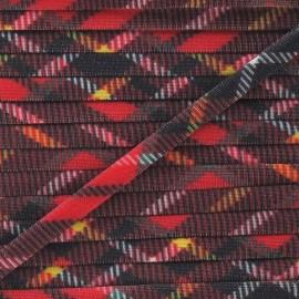 Cordon Maillot de Bain Écossais - Rouge x 1m