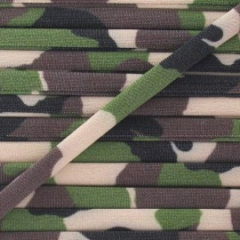 Spaghetti Elastic Cord 5mm, Camouflage - Brown