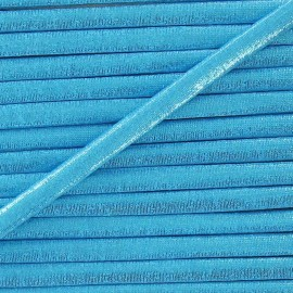 Spaghetti Elastic Cord 5mm, lurex aspect - blue