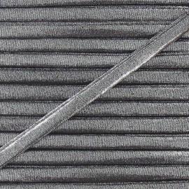 Spaghetti Elastic Cord 5mm, lurex aspect - silver