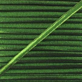 Cordon Spaghetti élastique aspect lurex vert 5mm