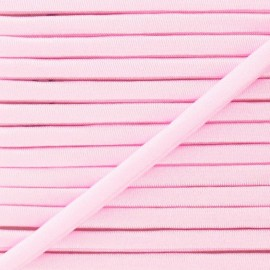 Spaghetti Elastic Cord 5mm, plain - pink