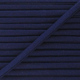 Spaghetti Elastic Cord 5mm, plain - navy blue