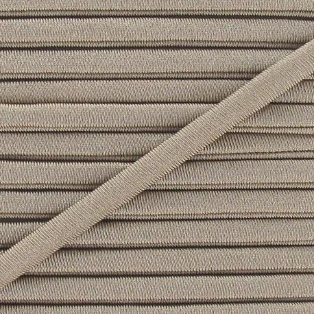 Spaghetti Elastic Cord 5mm, plain - beige
