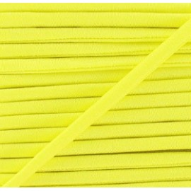 Spaghetti Elastic Cord 5mm, plain - yellow