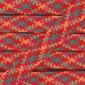 Ruban Jacquard Tressé rouge