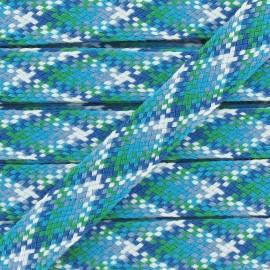 Ruban Jacquard Tressé bleu
