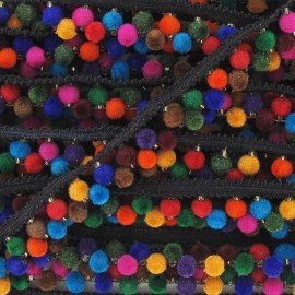 Galon Double Pompon India multi 6 mm x 50cm