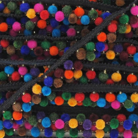 Double-sided braid trimming, India, 6 mm x 50cm - multicolored