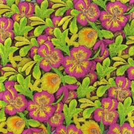 Guipure India Fleurs au coeur doré jaune x 50cm