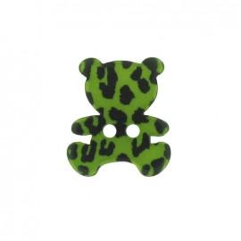 Bouton Polyester Nounours Imprimé léopard vert