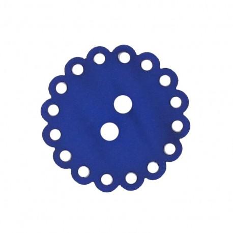 Bouton Polyester Fleur ajourée bleu nuit