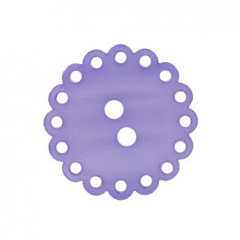 Polyester button, Hemstitched Flower - mauve