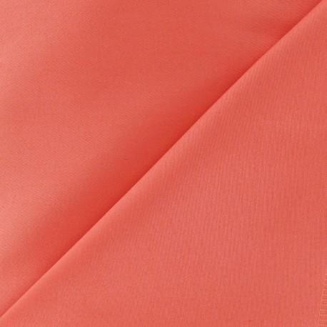 Satiny Lycra Gabardine Fabric - Coral x 10cm