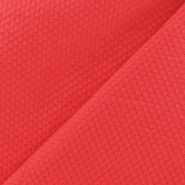 ♥ Coupon 70cm X 150 cm ♥ Tissu piqué de coton tissé corail