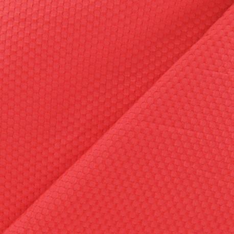 Tissu piqué de coton tissé corail x 10cm