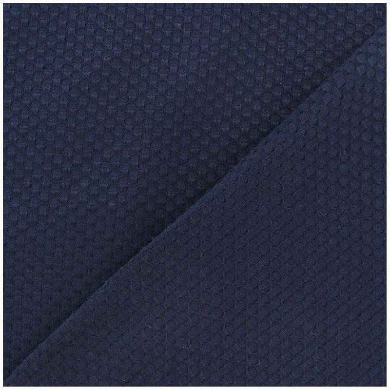 tissu piqu de coton tiss bleu marine x 10cm ma petite mercerie. Black Bedroom Furniture Sets. Home Design Ideas