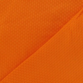 Stitched woven cotton fabric - orange x 10cm