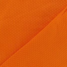 Tissu piqué de coton tissé orange x 10cm