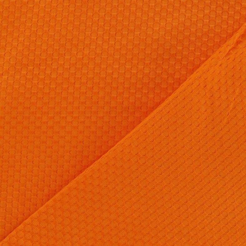 25ecedd9375b Tissu piqué de coton tissé orange x 10cm - Ma Petite Mercerie