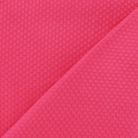 Tissu piqué de coton tissé fuchsia x 10cm