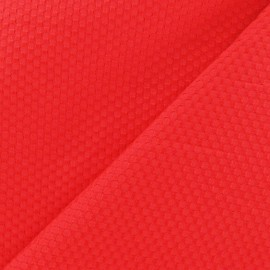 Stitched woven cotton fabric - red x 10cm