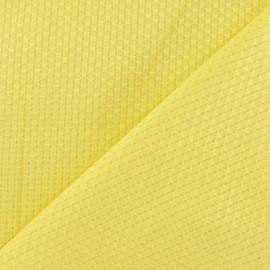 Tissu piqué de coton tissé jaune x 10cm