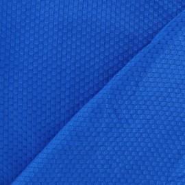 Tissu piqué de coton tissé bleu x 10cm