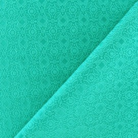 Tissu doublure lourde jacquard vert prairie x 10cm