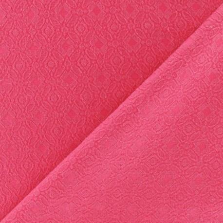 Heavy Jacquard Lining Fabric - Fuchsia x 10cm