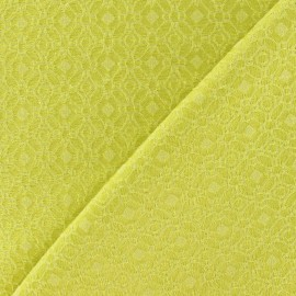 Heavy Jacquard Lining Fabric - Yellow x 10cm