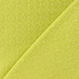 Tissu doublure lourde jacquard jaune x 10cm
