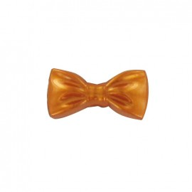 Polyester button, shiny bow-tie - copper
